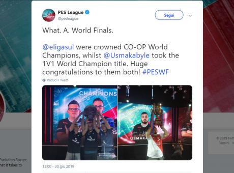 PES League 2019: l'italiano Ettorito secondo nelle finali mondiali, vince il francese Usmakabyle