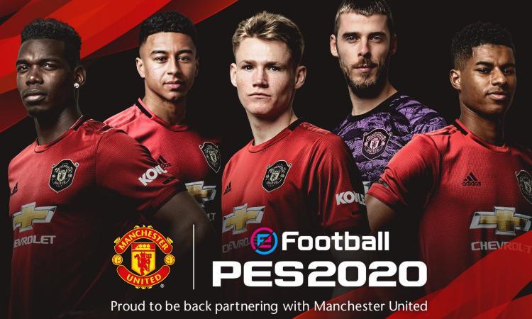 Manchester United e Konami, accordo partnership: i dettagli per PES 2020