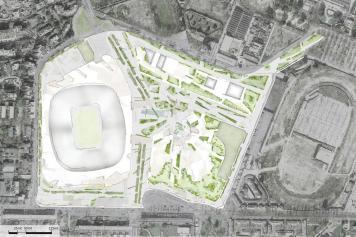 piantina, progetto, stadio, milano, 2019