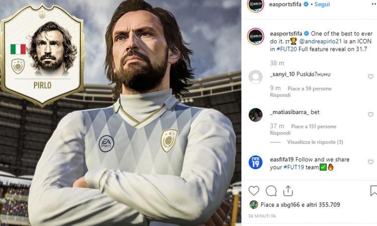 Fifa 20, UFFICIALE: Pirlo tra le nuove icone