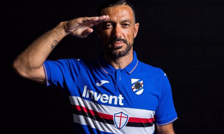 Sampdoria, svelata la vera maglia 2019/20 con Quagliarella: 'Ci eravate cascati eh?'