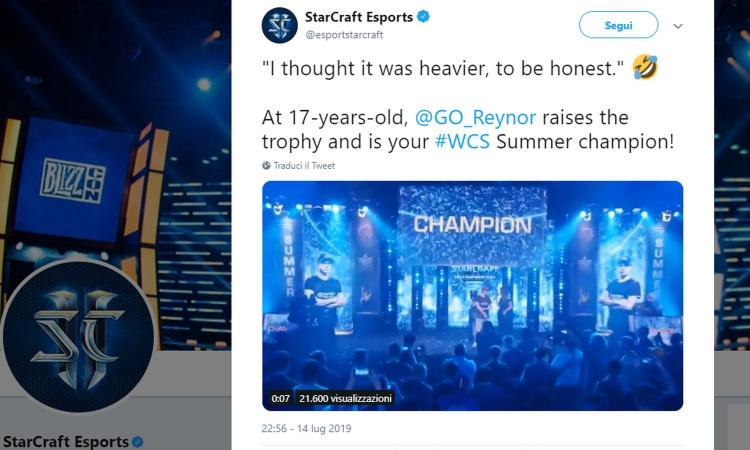 Starcraft 2: il 17 italiano 'Reynor' trionfa al WCS Summer 2019 di Kiev!