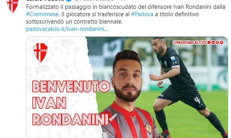 Padova, UFFICIALE: preso un difensore ex Milan