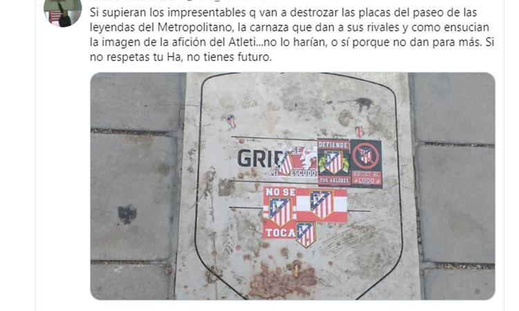 Atletico Madrid, rovinata la targa di Griezmann al Wanda Metropolitano FOTO