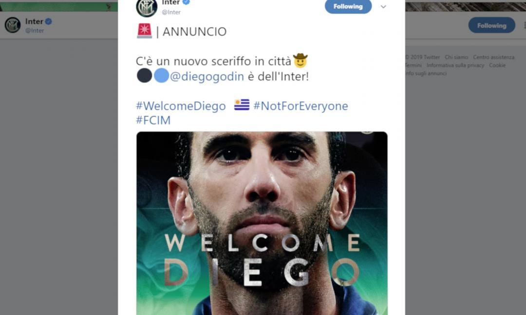 Godin firma con l'Inter