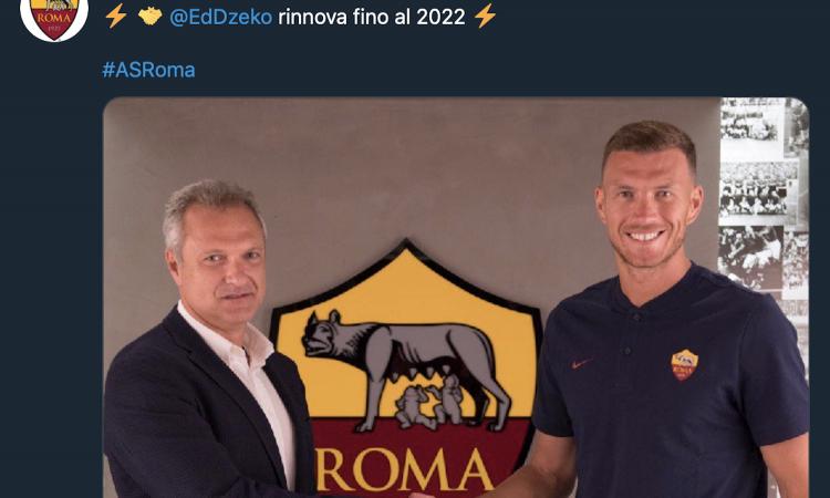 UFFICIALE: DZEKO RINNOVA con la Roma fino al 2022. Inter gelata