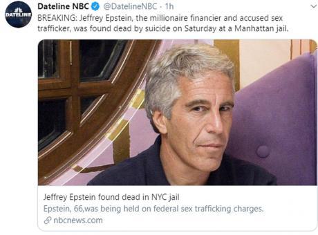 USA, si è suicidato il miliardario Jeffrey Epstein: era accusato di abusi sessuali
