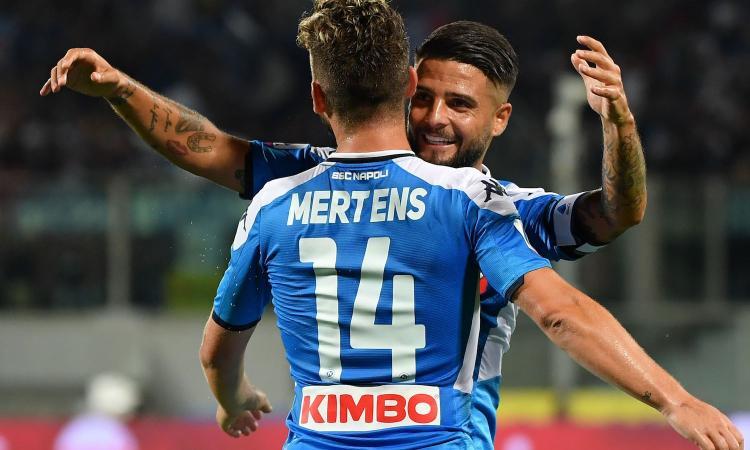 Gol e spettacolo: il Napoli vince 4-3 con la Fiorentina, doppietta di Insigne
