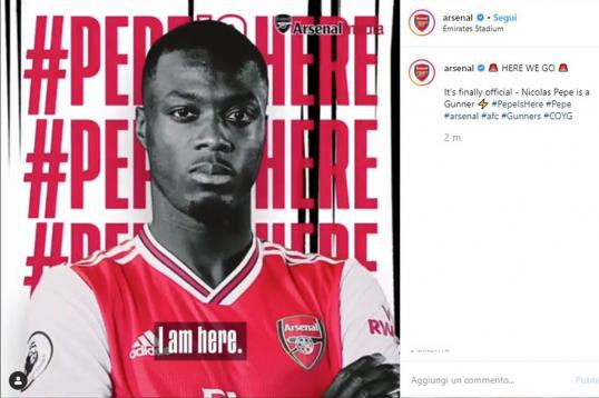 official nicolas pepe is an arsenal player english news. Black Bedroom Furniture Sets. Home Design Ideas