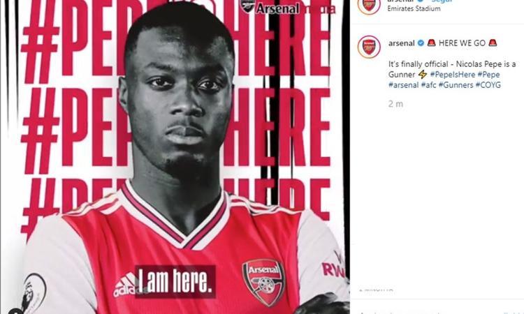 Pres. Lille: 'Pépé indeciso tra Napoli e Arsenal: ecco perchè ha scelto i Gunners'