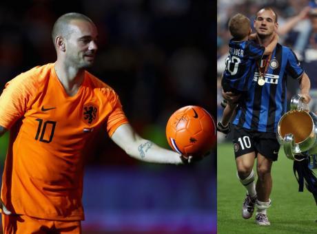 Chiude Sneijder, eroe del Triplete, il più totale degli olandesi. Nel 2010 avrebbe meritato il Pallone d'Oro