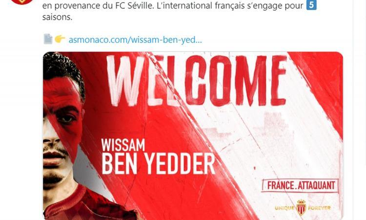 Monaco, UFFICIALE: colpo Ben Yedder dal Siviglia