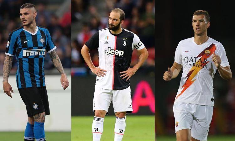 Icardi, Higuain, Dybala, Dzeko: corsa contro il tempo, a rischio Juve e Inter