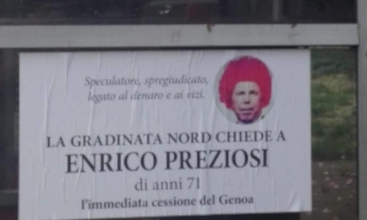 Genoa, Schone non ferma la contestazione anti-Preziosi
