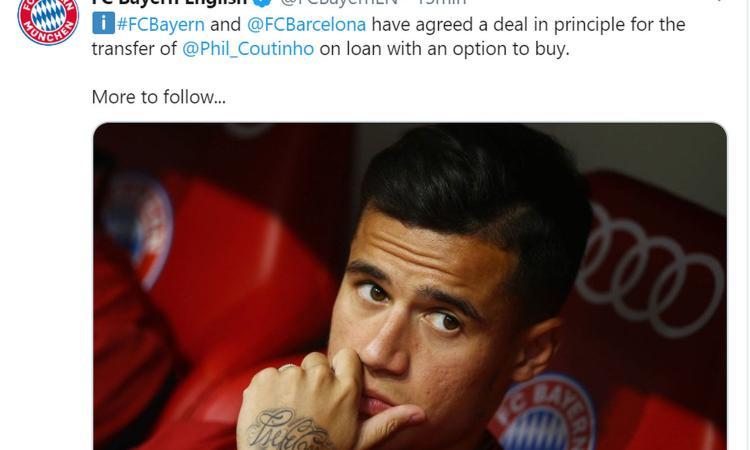 Coutinho al Bayern Monaco: 'Principio di accordo col Barcellona'. I dettagli