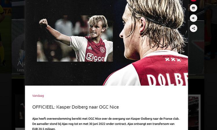 Nizza, UFFICIALE: colpo Dolberg dall'Ajax