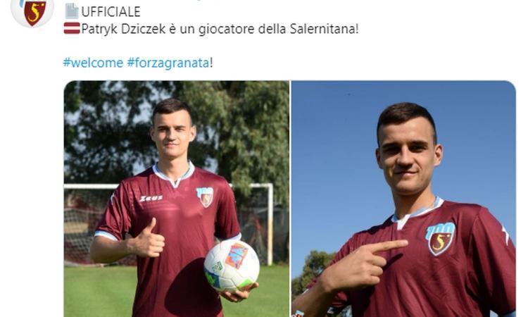 Salernitana: Dziczek dimesso dalla clinica di Roma, torna a Salerno