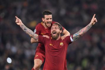 florenzi, roma, 2019/20, abbraccio, de rossi, sorriso