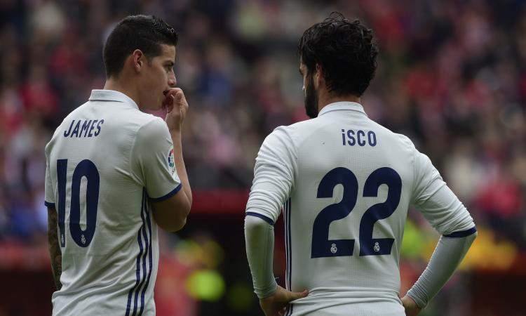 Milan, sogni Real: Isco o James Rodriguez