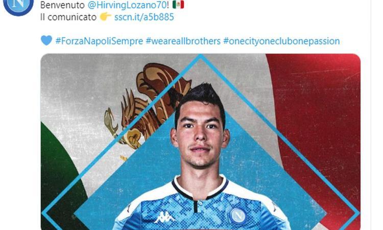 Napoli, UFFICIALE: ecco Lozano!