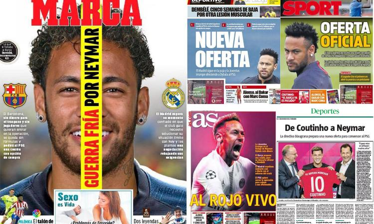 Barcellona-Real: è guerra fredda per Neymar. Offerte e rilanci al PSG