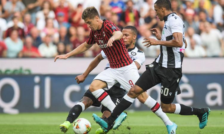 Udinese-Milan, le pagelle di CM: Piatek è un problema, Castillejo imbarazzante