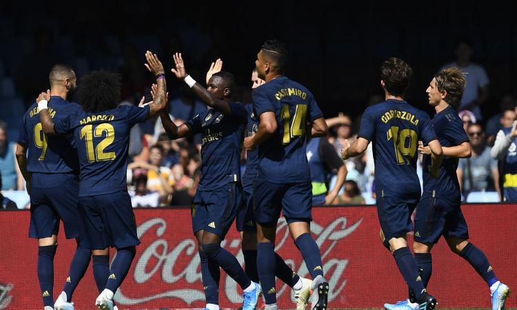 Liga: Real Madrid, 3-1 a Vigo. Espulso Modric, Bale in campo 75'. Pareggiano Valencia e Villarreal