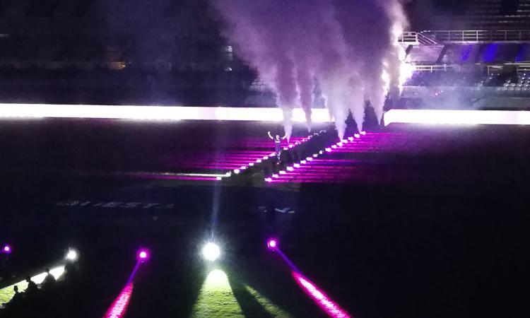 Fiorentina, che festa al Franchi: in 10mila allo stadio per Ribery che risponde 'Forza Viola' FOTO e VIDEO