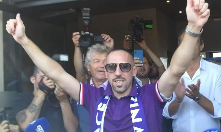 Violamania: Ribery è entusiasmo puro, Firenze non vuole smettere di sognare