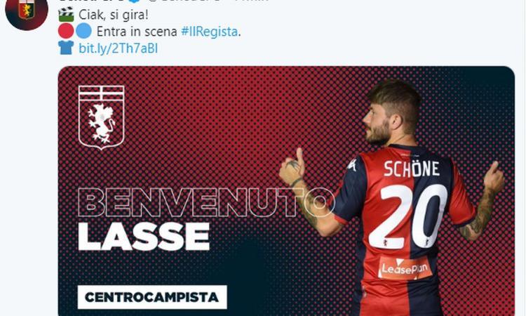 Convocati Genoa: c'è Schone, due assenti contro la Roma