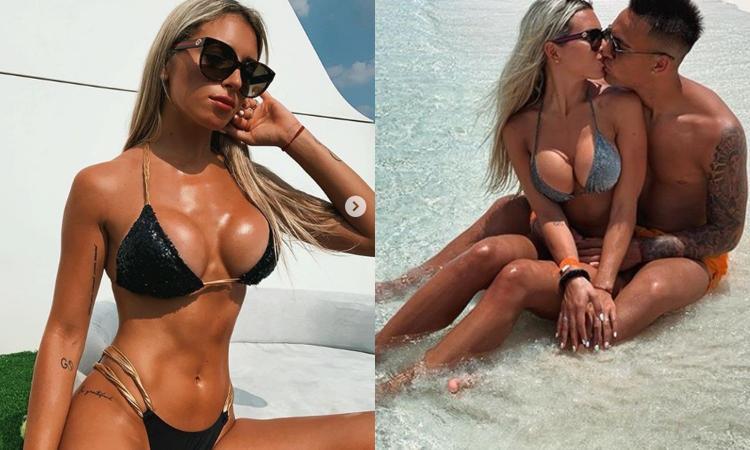 Agustina, la compagna del 'Toro' Lautaro è la regina dell'estate! FOTO HOT in spiaggia