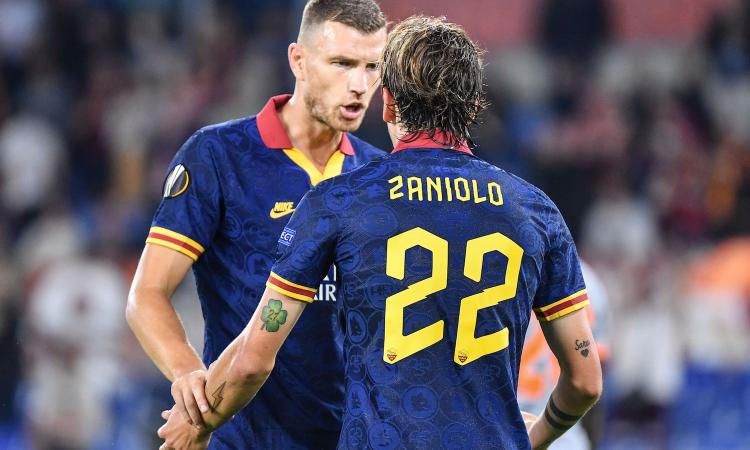 Roma, Dzeko e Zaniolo stendono l'Istanbul Basaksehir: è 4-0
