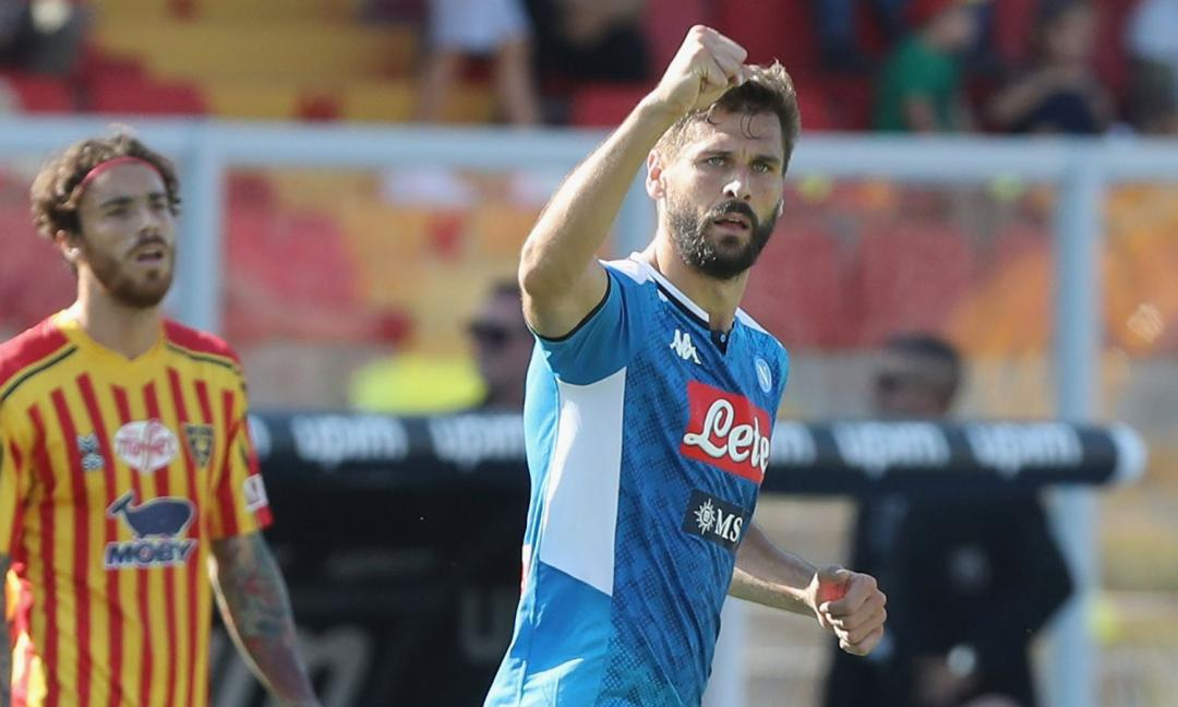 Llorente trascina il Napoli, 4-1 al Lecce