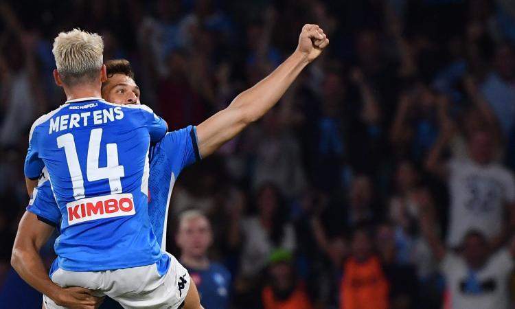 Napoli-Liverpool 2-0, il tabellino