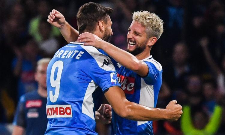 Napoli-Sampdoria 2-0: il tabellino