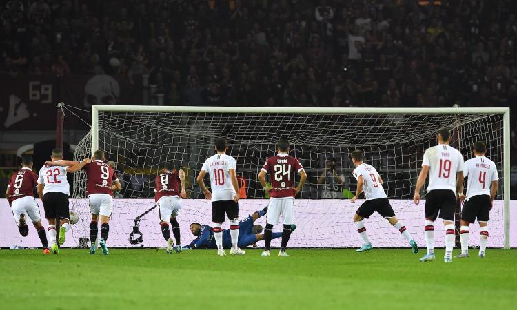 Torino-Milan, rivivi la MOVIOLA: rigore su Leao, proteste sul primo gol di Belotti