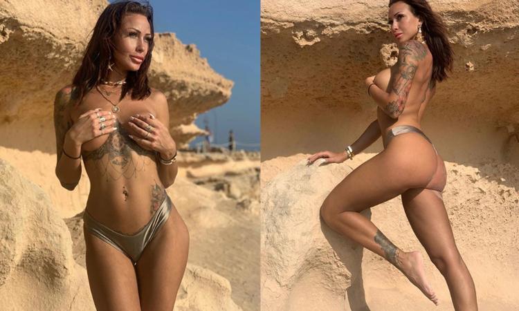 Alice, che FOTO nuda a Ibiza! Tifa Fiorentina e quel Ciao Darwin contro la Juve...