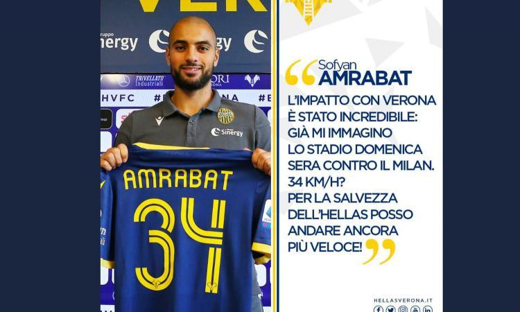 Hellas Verona, Amrabat: 'Qui anche per Juric. Milan? Nessuna paura'