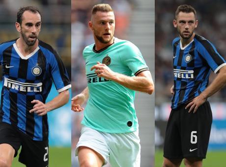 Godin-de Vrij-Skriniar: l'Inter alza il muro per scudetto e Champions League