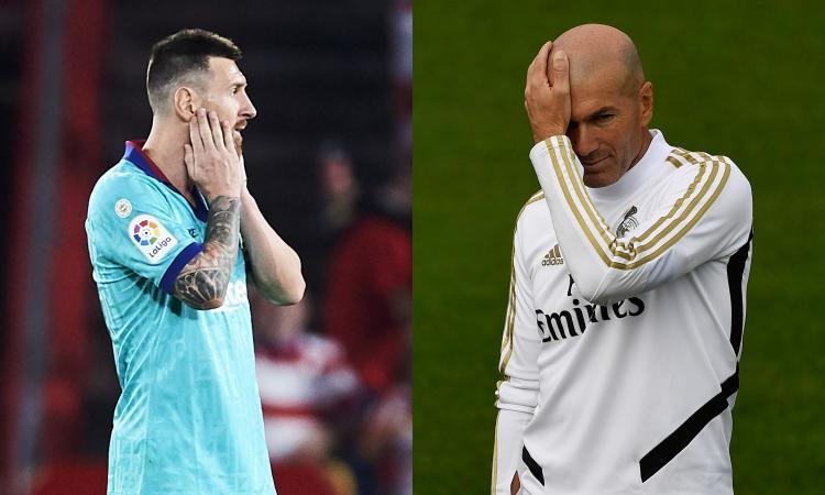 Barcellona senz'anima, Real Madrid con Zidane a rischio: le big di Spagna sono a pezzi
