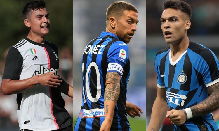 Da Dybala e Gomez a Lautaro: in Serie A la 10 balla il ...