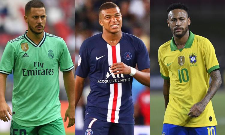 Hazard, Mbappé o Neymar: chi è il migliore dopo Messi e Ronaldo? VOTA