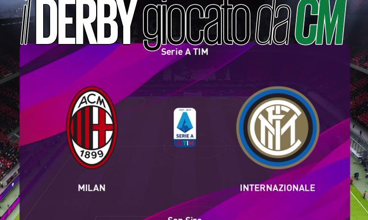Milan-Inter, il derby giocato a eFootball PES. Una papera, il var e la gufata: ecco com'è finita VIDEO