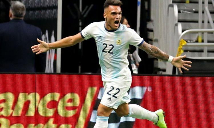 Inter, Lautaro da urlo! Tripletta con l'Argentina e messaggio a Conte VIDEO