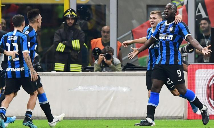 Brozovic e Lukaku stendono il Milan: 2-0, l'Inter torna prima in classifica
