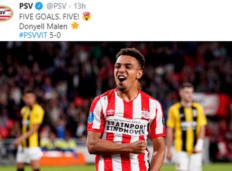 PSV, è il Malen show: 5 gol e record. Raiola l'aveva offerto a Milan e Roma