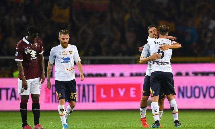 Il Toro pensava solo alla Juve, il Lecce punisce la supponenza dei granata
