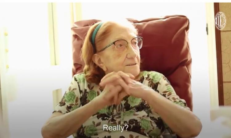 Nonna Ines compie 100 anni e il Milan le fa un regalo speciale: 'Siete la mia consolazione, Gattuso...' VIDEO
