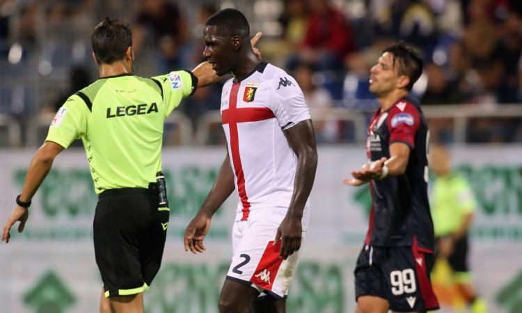 Genoa, allarme difesa in vista della Roma: anche Zapata va KO