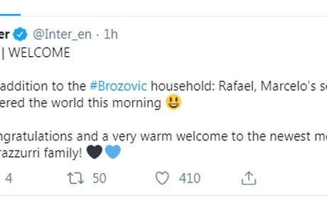 Nel giorno di Inter-Juve, Brozovic è di nuovo papà!